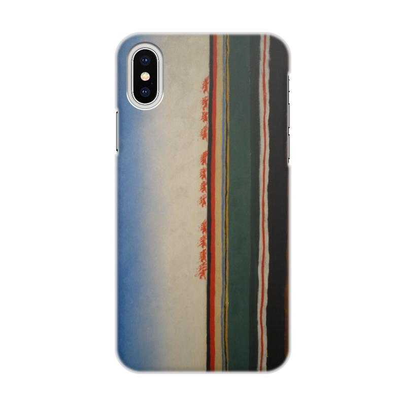 Чехол для iPhone X/XS, объёмная печать Printio Скачет красная конница (казимир малевич)
