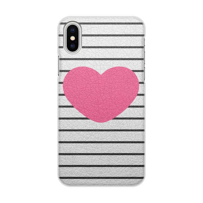 Чехол для iPhone X, объёмная печать Printio Сердце цветочный дизайн кожа pu откидная крышка бумажника карты держатель чехол для iphone 7g