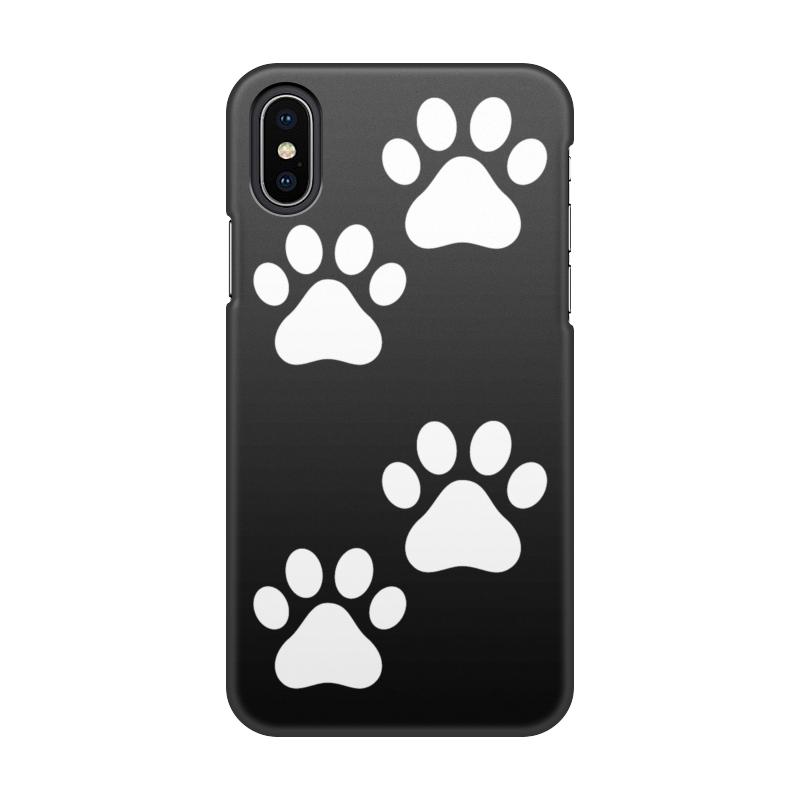 Чехол для iPhone X, объёмная печать Printio Лапки чехол для iphone 7 глянцевый printio deadpool family