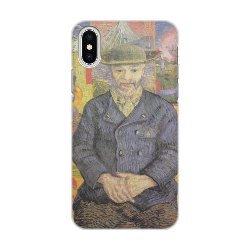 Чехол для iPhone X/XS, объёмная печать Printio Портрет папаши танги (винсент ван гог) чехол для iphone x xs объёмная печать printio портрет актрисы жанны самари ренуар