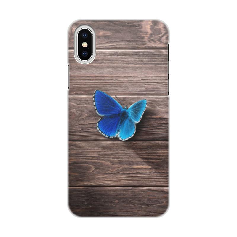 Чехол для iPhone X, объёмная печать Printio Бабочка бабочка башня дизайн кожа pu откидной крышки кошелек карты держатель чехол для sony x performance