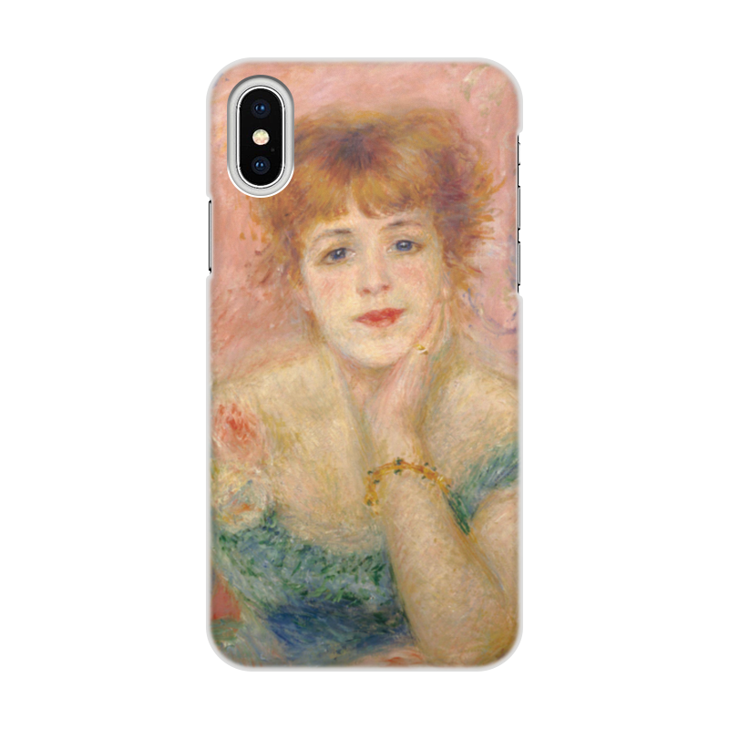 Чехол для iPhone X/XS, объёмная печать Printio Портрет актрисы жанны самари (ренуар)