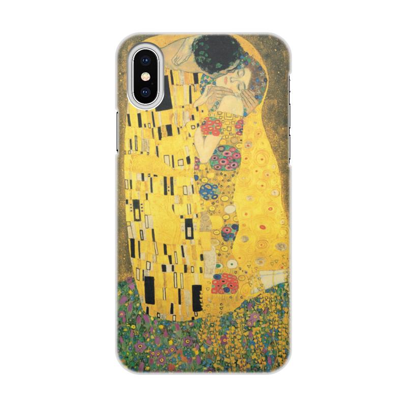 Чехол для iPhone X/XS, объёмная печать Printio Поцелуй (картина густава климта) чехол для iphone 6 глянцевый printio поцелуй музы