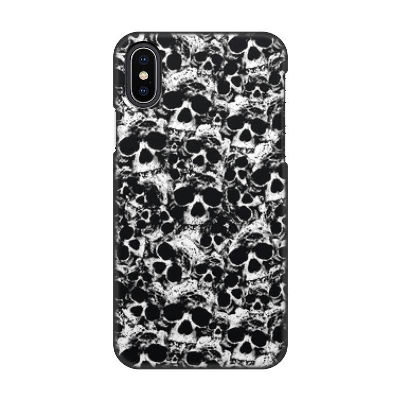 Чехол для iPhone X/XS, объёмная печать Printio Камуфляж черепа чехол для iphone 5 глянцевый с полной запечаткой printio камуфляж