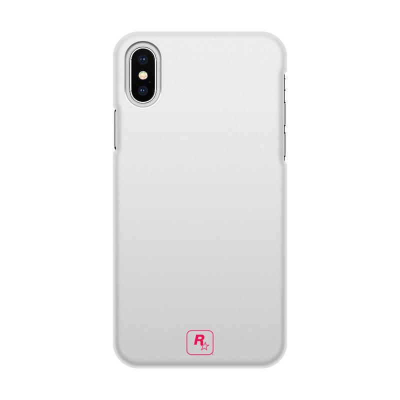 Чехол для iPhone X/XS, объёмная печать Printio R* design white\pink mini tri leg body massager deep pink white 3 x aaa