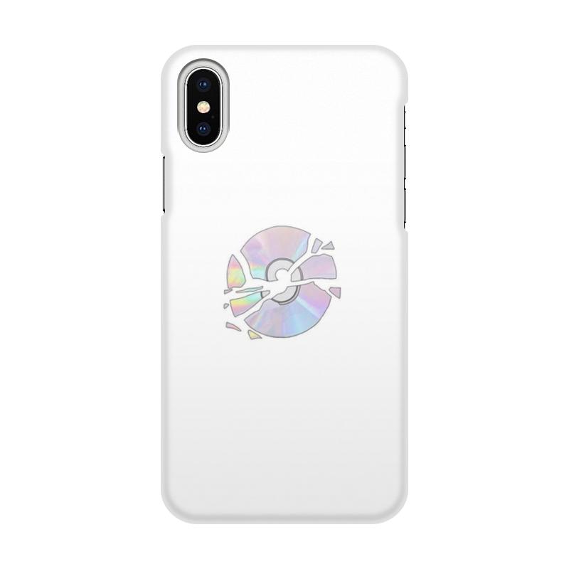 лучшая цена Чехол для iPhone X/XS, объёмная печать Printio Broken disk