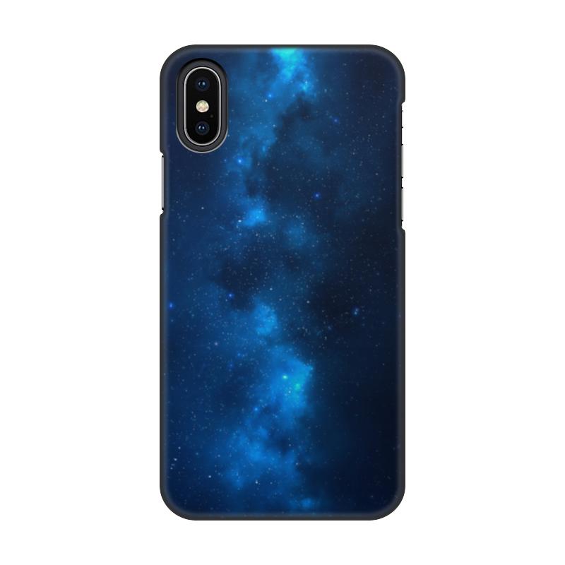 Чехол для iPhone X/XS, объёмная печать Printio Космос чехол для iphone 5 глянцевый с полной запечаткой printio разноцветный космос