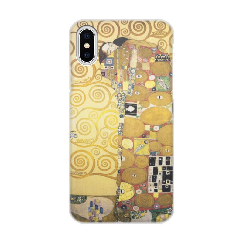 Чехол для iPhone X объёмная печать Printio Объятия густав климт
