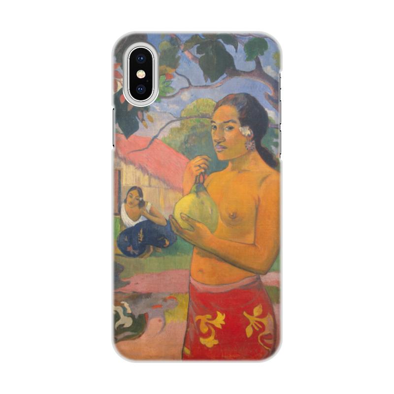 Чехол для iPhone X, объёмная печать Printio Женщина, держащая плод (поль гоген)