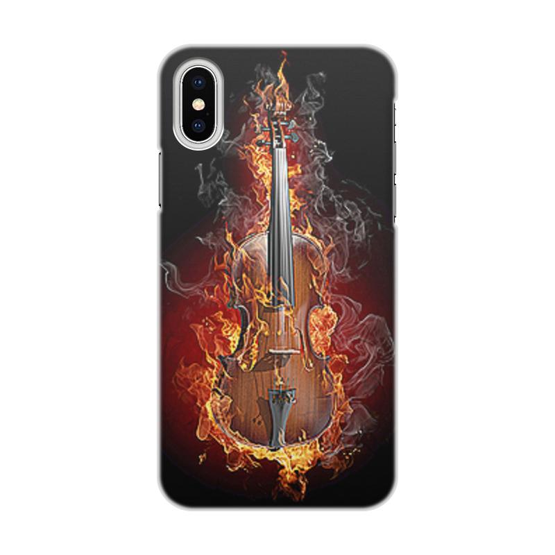 Чехол для iPhone X, объёмная печать Printio Музыка фэнтези чехол для iphone 6 глянцевый printio deadpool kawaii