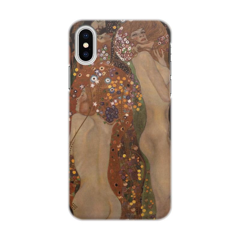 Чехол для iPhone X, объёмная печать Printio Водяные змеи ii (густав климт) водяные трубки