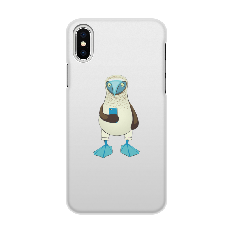 Чехол для iPhone X/XS, объёмная печать Printio Blue-footed booby 50w 900 lumen 5 x 10 led blue light blue dc 32 36v
