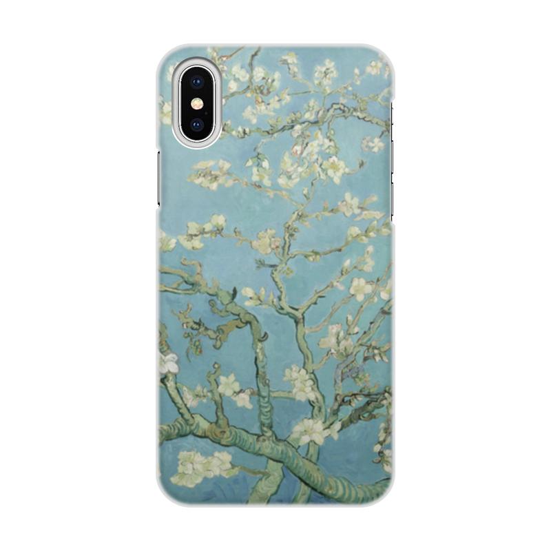 Чехол для iPhone X/XS, объёмная печать Printio Цветы миндаля (ван гог) чехол для iphone x xs объёмная печать printio цветы
