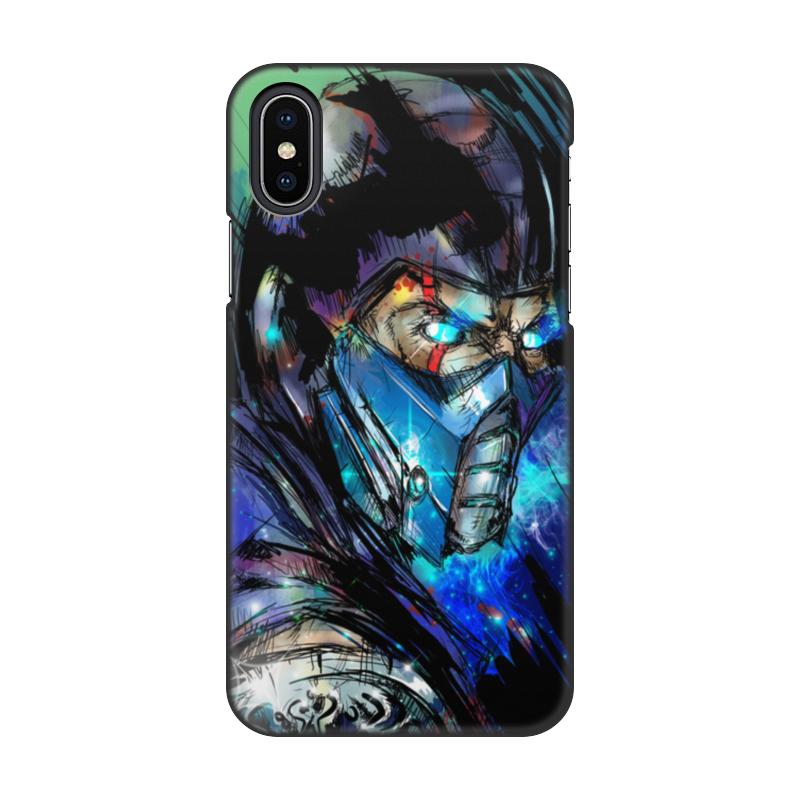 Чехол для iPhone X, объёмная печать Printio Mortal kombat x (sub-zero) чехол для iphone x sbs christmas cover texmasipxwr