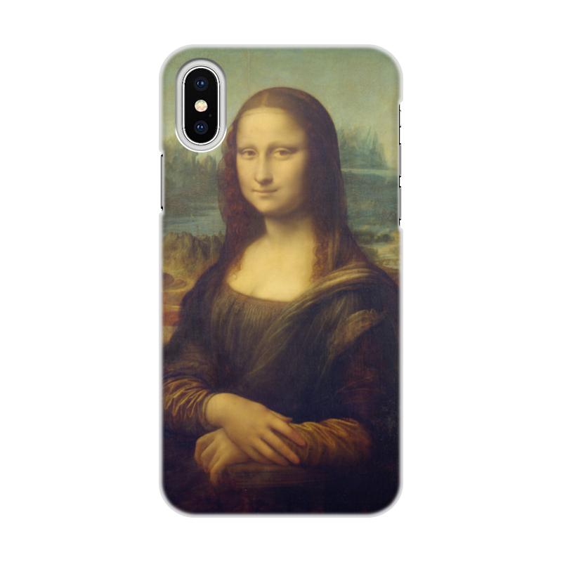 Чехол для iPhone X/XS, объёмная печать Printio Мона лиза чехол для iphone 5 printio с именем лиза
