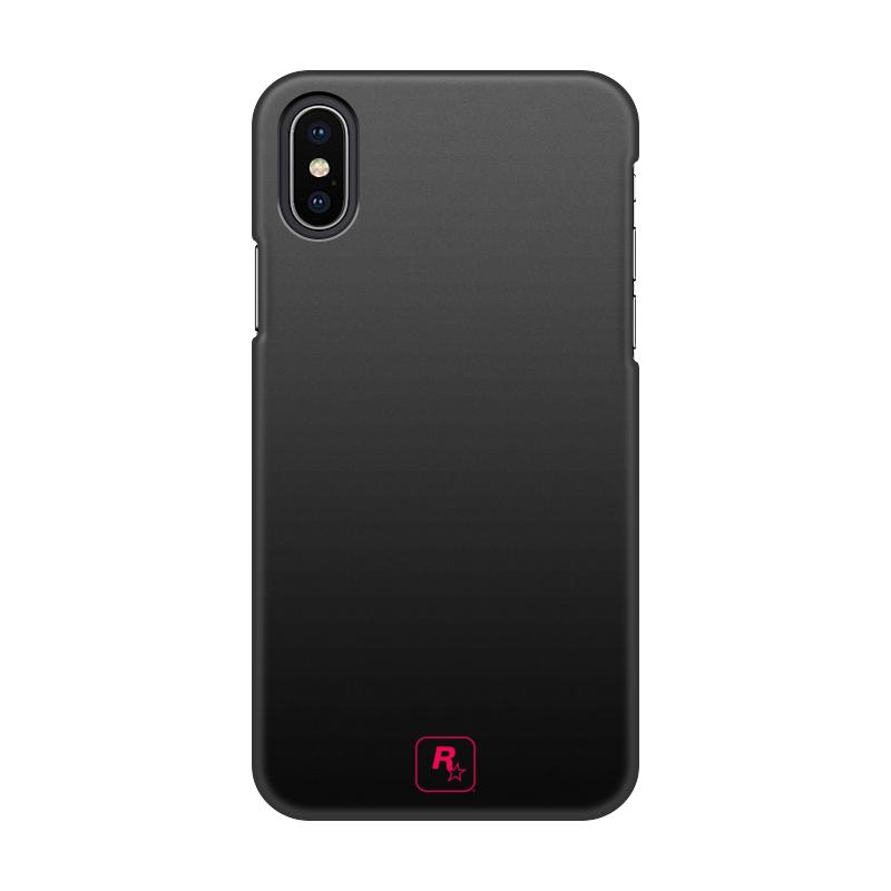 купить Чехол для iPhone X/XS, объёмная печать Printio R* design pink онлайн