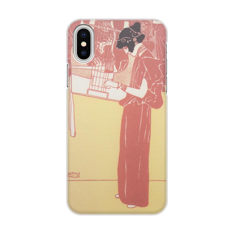 Чехол для iPhone X объёмная печать Printio Музыка густав климт