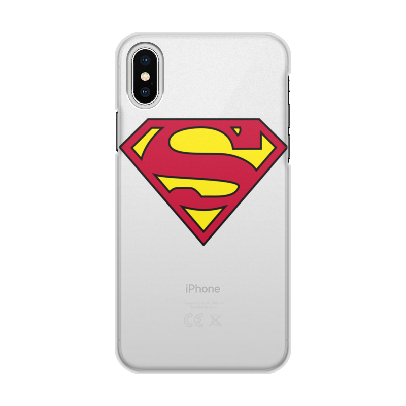 Чехол для iPhone X/XS, объёмная печать Printio Супермен цена