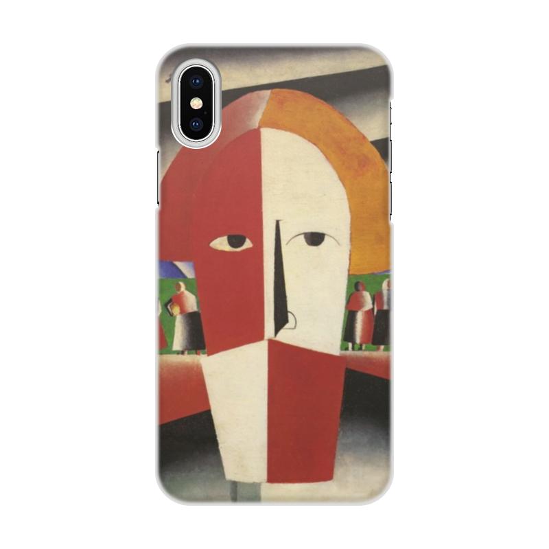 Чехол для iPhone X/XS, объёмная печать Printio Голова крестьянина (казимир малевич) цена