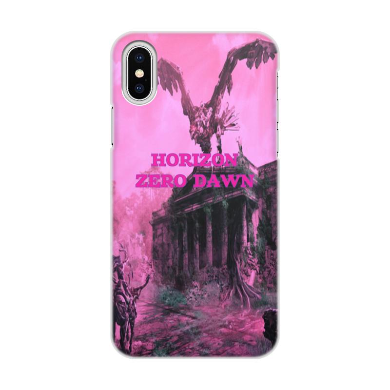 Чехол для iPhone X/XS, объёмная печать Printio Horizon zero dawn чехол для iphone x xs объёмная печать printio борец сумо утагава кунисада