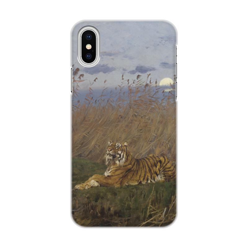 Printio Тигр среди камышей в лунном свете (вастаж геза) цена и фото