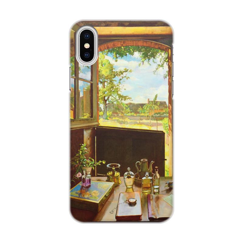Чехол для iPhone X/XS, объёмная печать Printio Открытая дверь в сад (константин сомов)