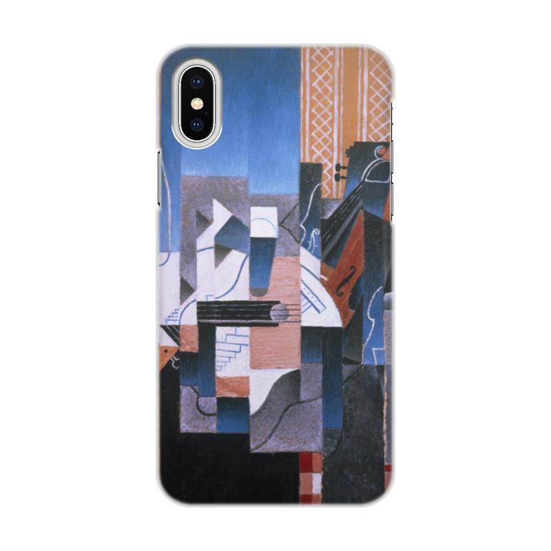 Чехол для iPhone X/XS, объёмная печать Printio Скрипка и гитара (хуан грис) цена