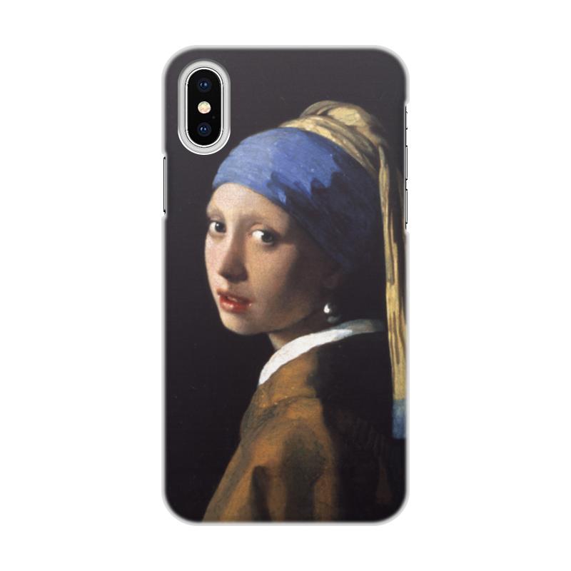 Чехол для iPhone X, объёмная печать Printio Девушка с жемчужной серёжкой (ян вермеер) pr m28veзеркальце девушка с жемчужной сережкой ян вермеер museum parastone