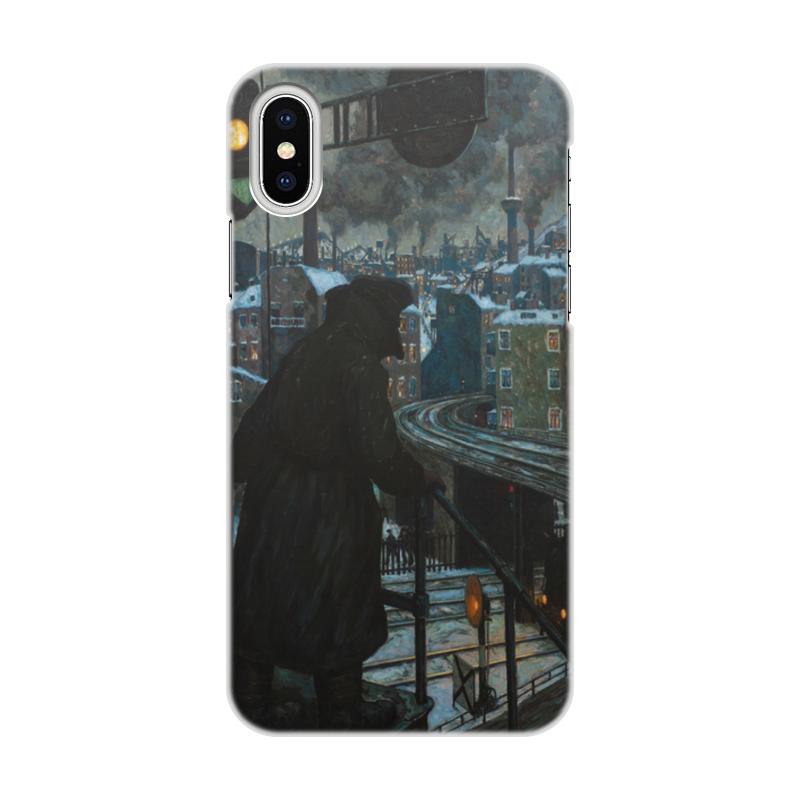 Чехол для iPhone X/XS, объёмная печать Printio Город рабочих (ганс балушек)