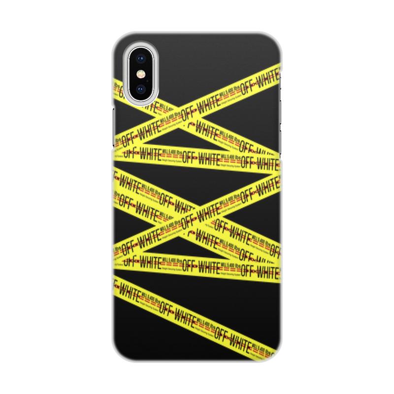 Чехол для iPhone X/XS, объёмная печать Printio Off-white цена