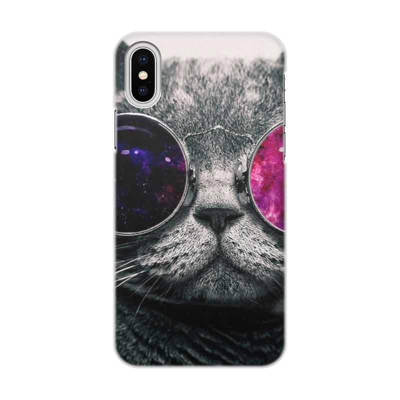 Чехол для iPhone X/XS, объёмная печать Printio Кот кошка чехол для iphone x xs объёмная печать printio цветы
