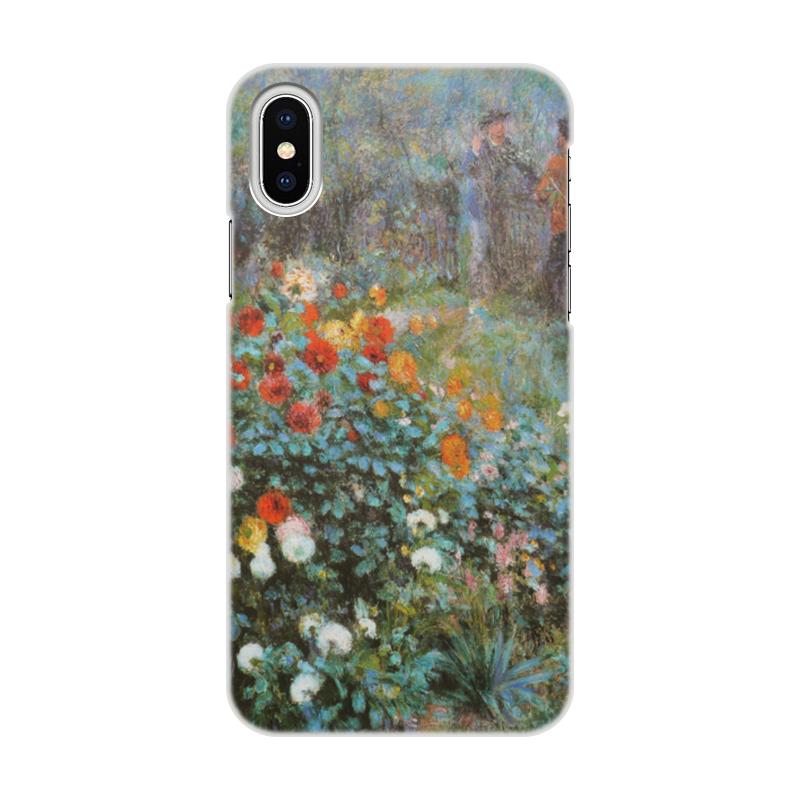 Чехол для iPhone X/XS, объёмная печать Printio Сад на улице корто (