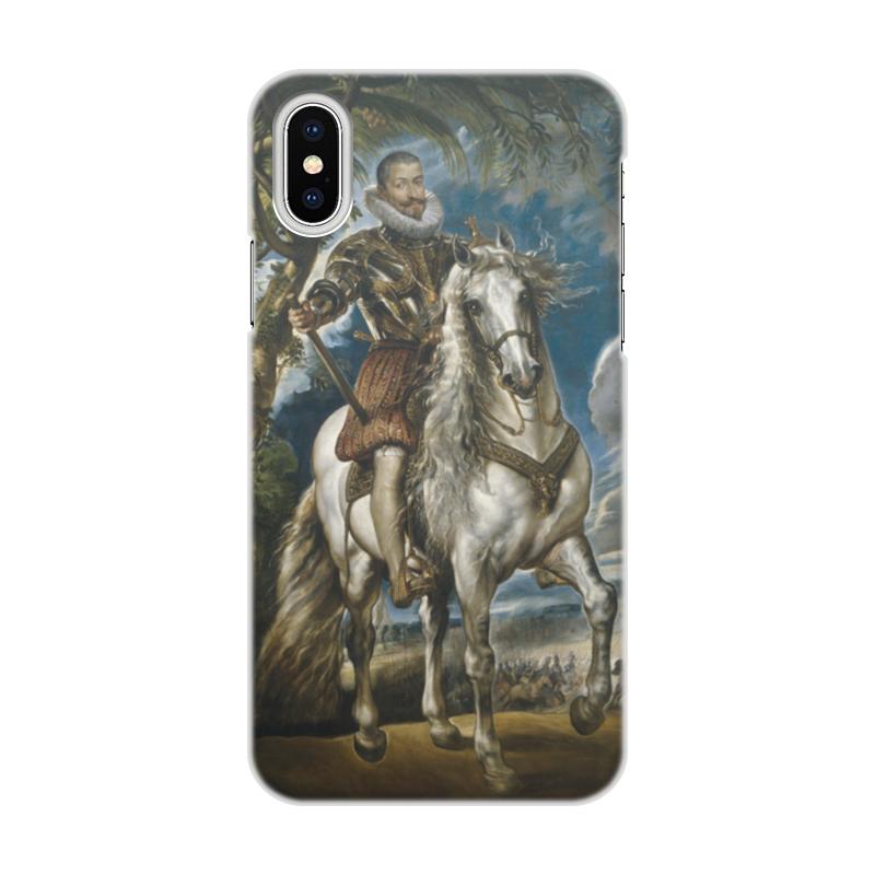 Чехол для iPhone X, объёмная печать Printio Герцог лерма (картина рубенса) чехол для iphone 6 глянцевый printio дама в голубом картина сомова