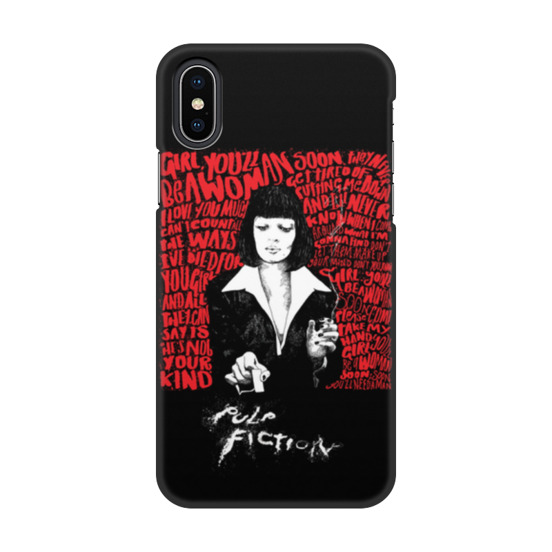 лучшая цена Чехол для iPhone X/XS, объёмная печать Printio Pulp fiction (ума турман)