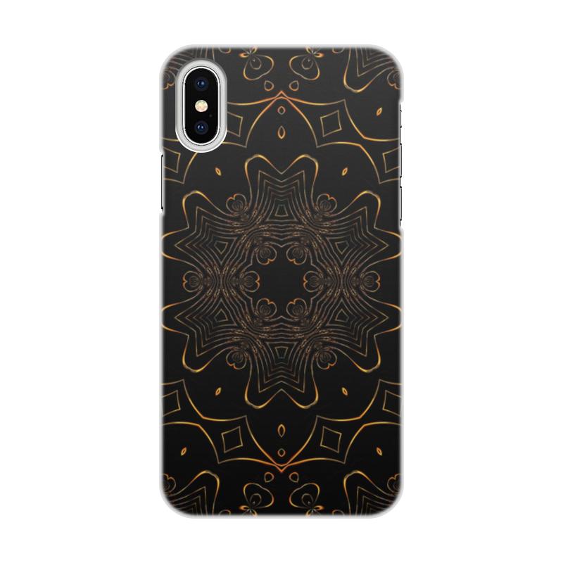 Чехол для iPhone X/XS, объёмная печать Printio Золотая вязь чехол для iphone x xs объёмная печать printio i love mideast