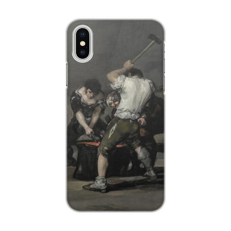 Чехол для iPhone X/XS, объёмная печать Printio Кузнечный горн (франсиско гойя) цена