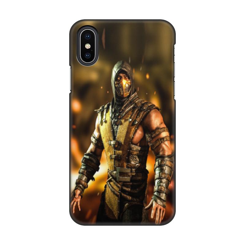 Чехол для iPhone X, объёмная печать Printio Mortal kombat (scorpion) мобильный телефон sony ericsson u100i yari u100