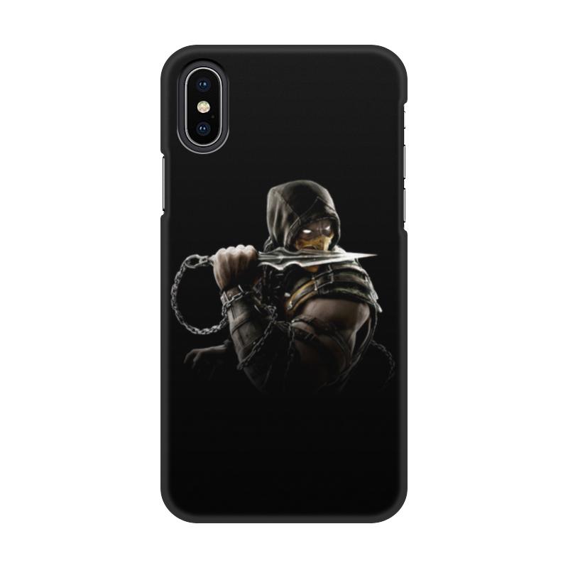Чехол для iPhone X/XS, объёмная печать Printio Mortal kombat (scorpion) чехол для iphone 5 5s объёмная печать printio mortal kombat scorpion