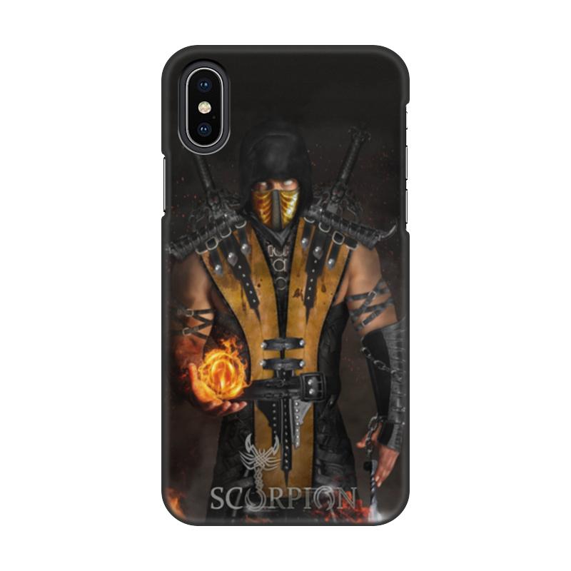 Чехол для iPhone X, объёмная печать Printio Mortal kombat (scorpion) чехол для iphone 7 глянцевый printio альтрон мстители