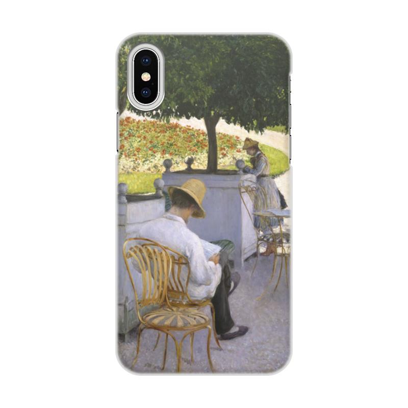 Чехол для iPhone X/XS, объёмная печать Printio Апельсиновые деревья (картина кайботта) чехол для iphone x объёмная печать printio всадница картина карла брюллова