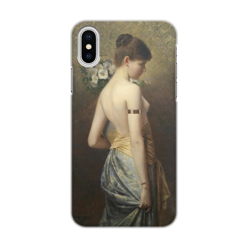 Чехол для iPhone X/XS, объёмная печать Printio Флора (макс нонненбрух) цена и фото