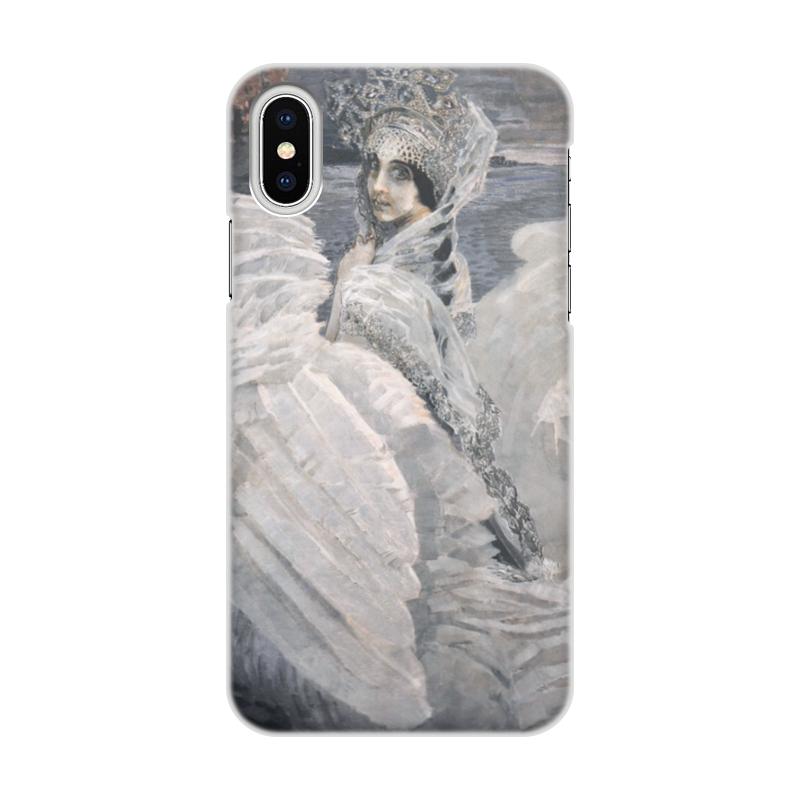Чехол для iPhone X/XS, объёмная печать Printio Царевна-лебедь (картина врубеля) чехол для iphone x объёмная печать printio всадница картина карла брюллова