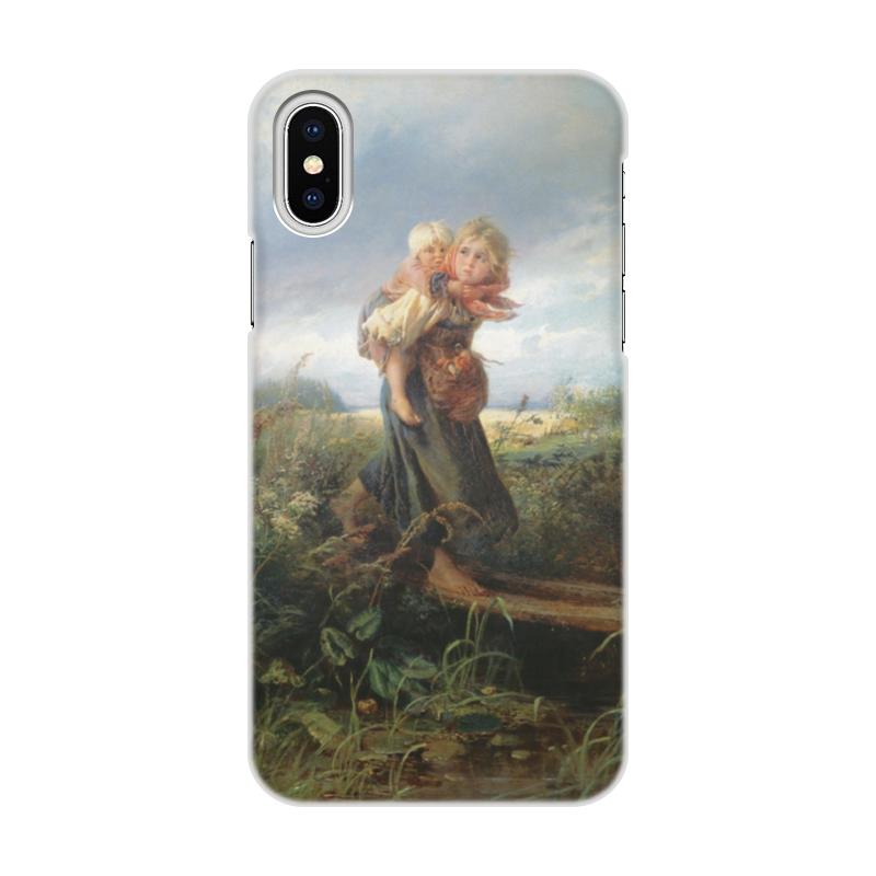 Чехол для iPhone X, объёмная печать Printio Дети, бегущие от грозы (константин маковский) чехол для iphone 7 глянцевый printio русский флаг
