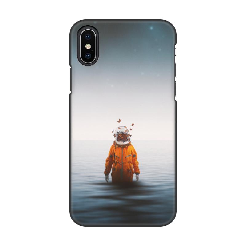 Чехол для iPhone X/XS, объёмная печать Printio Space in ocean чехол для iphone 4 глянцевый с полной запечаткой printio my space