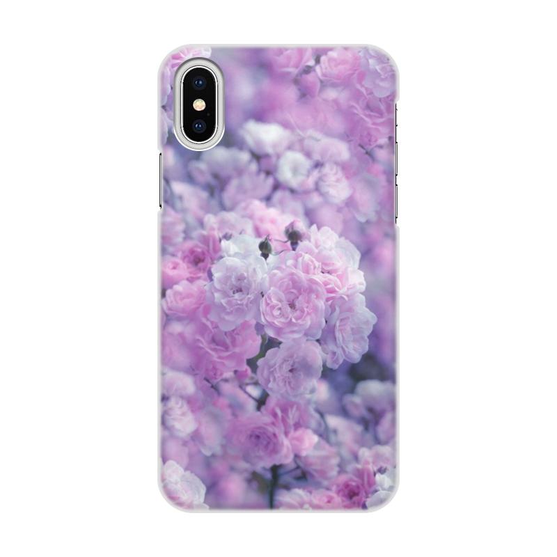 Чехол для iPhone X/XS, объёмная печать Printio Цветы чехол для iphone x xs объёмная печать printio цветы