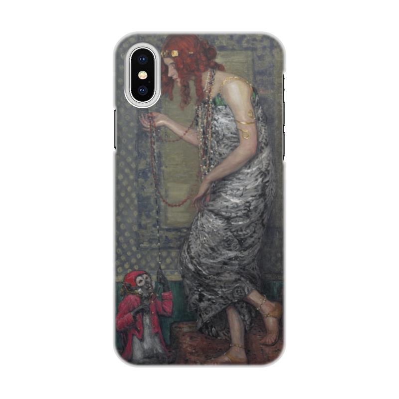 Чехол для iPhone X/XS, объёмная печать Printio Принцесса и обезьяна (янис розенталс) цена