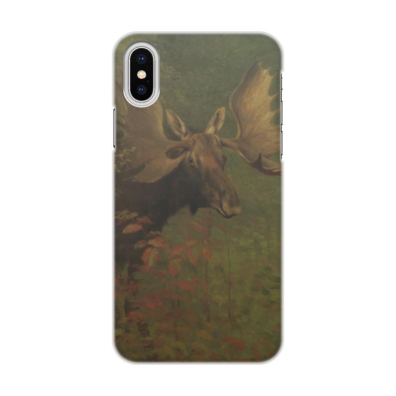 Чехол для iPhone X/XS, объёмная печать Printio Study of a moose (альберт бирштадт) чехол для iphone x xs объёмная печать printio study of a moose альберт бирштадт