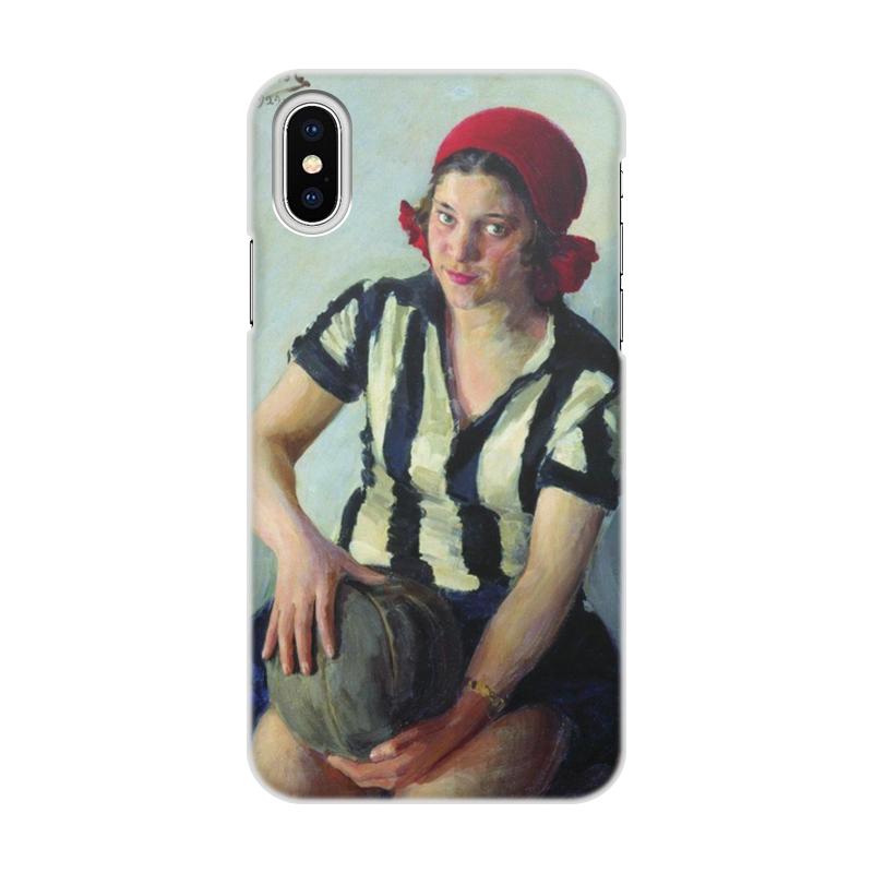 Чехол для iPhone X/XS, объёмная печать Printio Физкультурница (иван куликов) men star and striped print tee