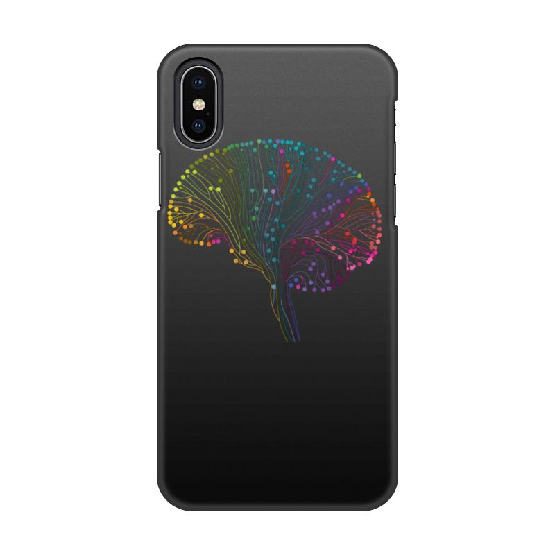 Чехол для iPhone X, объёмная печать Printio Красочный мозг printio чехол для iphone 5