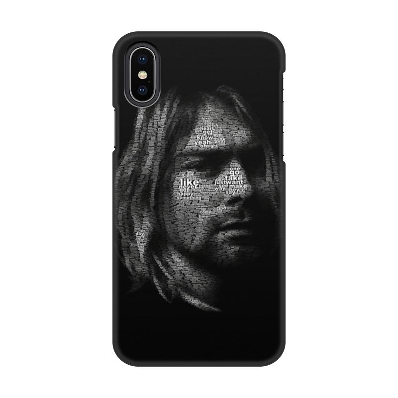Фото - Чехол для iPhone X/XS, объёмная печать Printio Курт кобейн чехол для iphone 5 глянцевый с полной запечаткой printio deadpool vs punisher